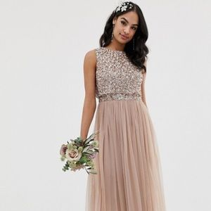 ASOS Maya midi sparkle dress